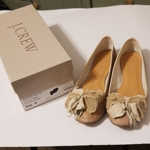 J. Crew leather ballet flats with box